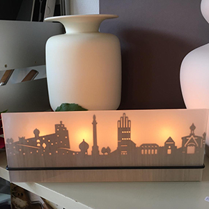 Lichtbild Silhouette Darmstadt