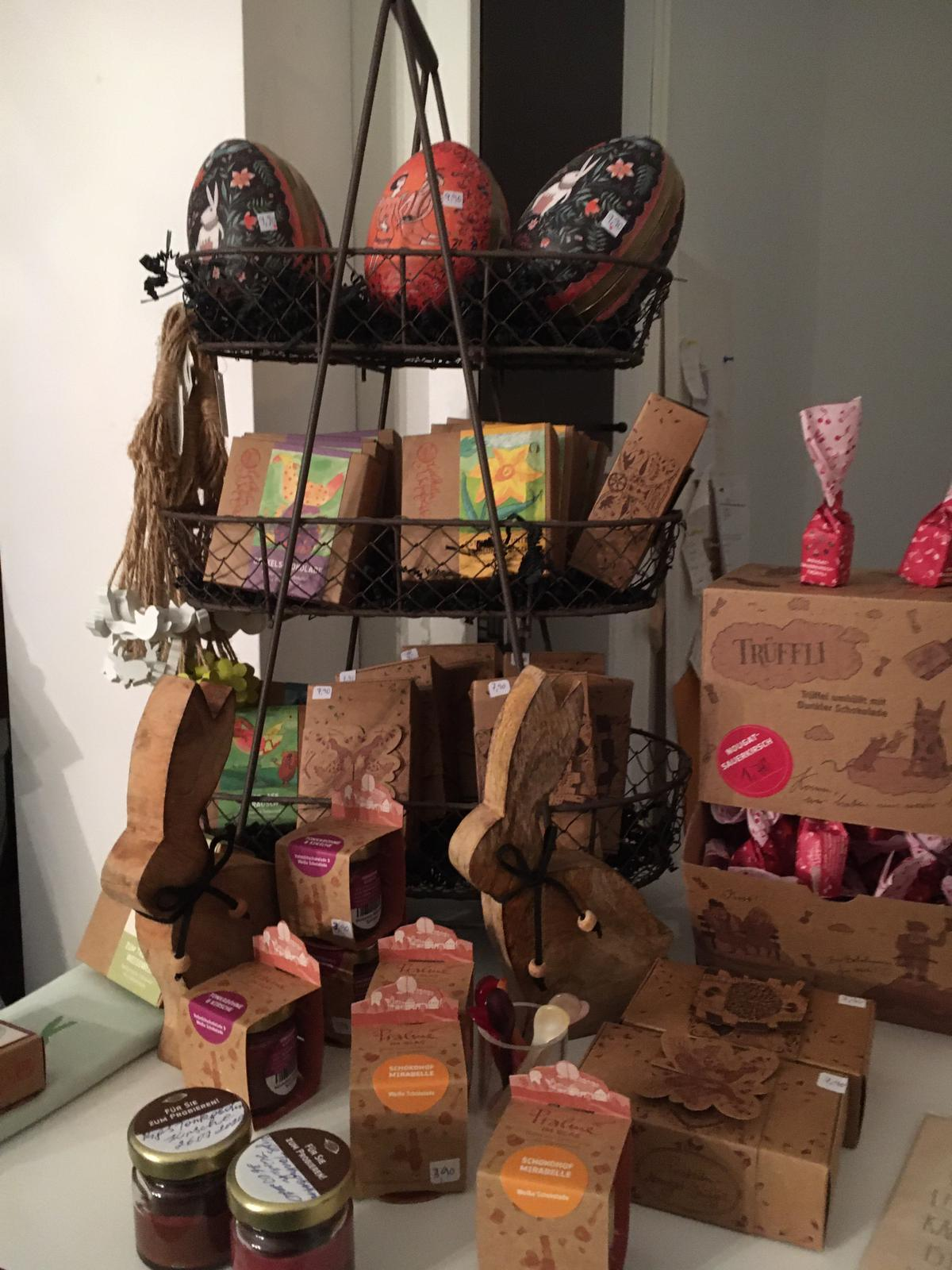 Holzhasen/Schokolade